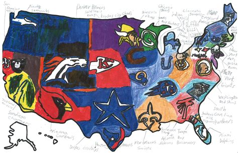 nfl usa map sports maps osher map library