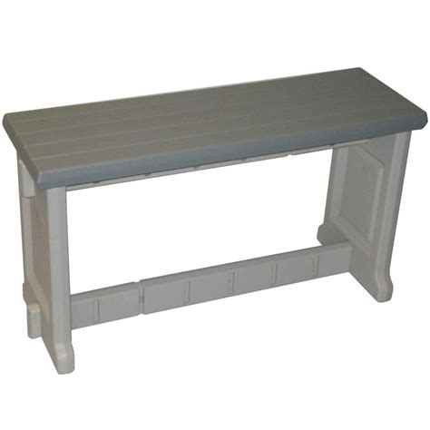 pvc benches 36 inch plastic patio bench in outdoor benches