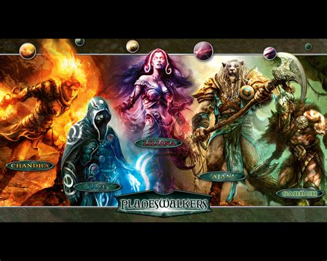 0008204659 the archive of magic the wallpaper of the week planeswalkers magic the gathering