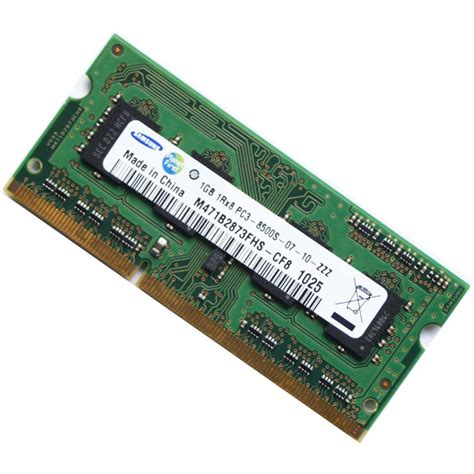 Samsung Ram 1gb samsung 1gb ddr3 pc3 8500 1066mhz laptop memory ram
