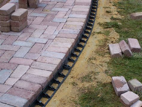 Paver Patio Edging Snap Edge Paver Restraint Sek Surebond Hardscape Installation Protection