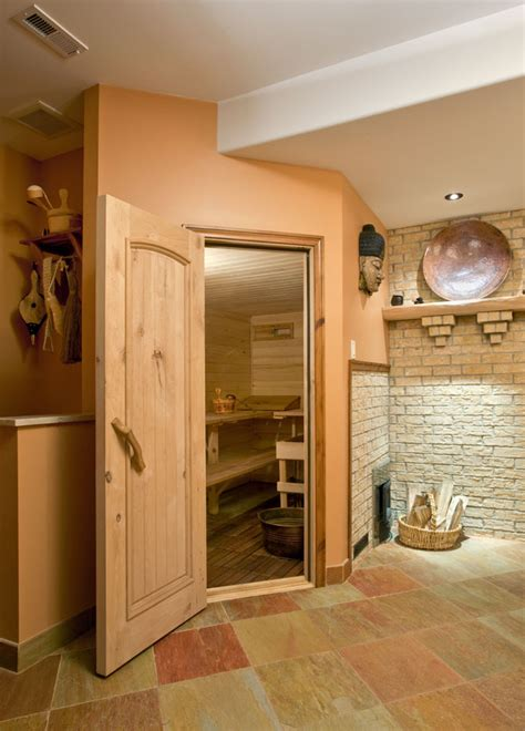 basement sauna in woodstock ny contemporary bathroom