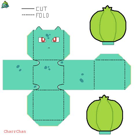 Papercraft Bulbasaur - papers to print images images