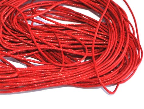 String Thread - 10 metres of waxed cotton cord string thread jewellery
