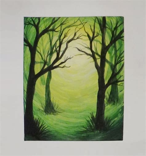 how to lighten acrylic paint on canvas best 25 silhouette painting ideas on