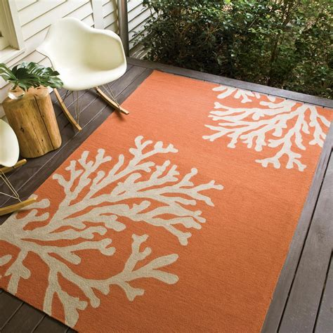 outside patio rugs jaipur rugs grant bough out 8 x 8 indoor outdoor rug orange ivory ultimate patio