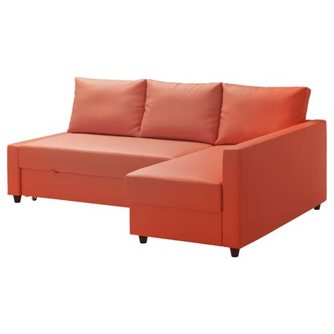 ikea sofa bed couch friheten corner sofa bed with storage skiftebo dark orange