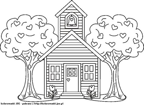 coloring pages of a school house free coloring pages of one room school house