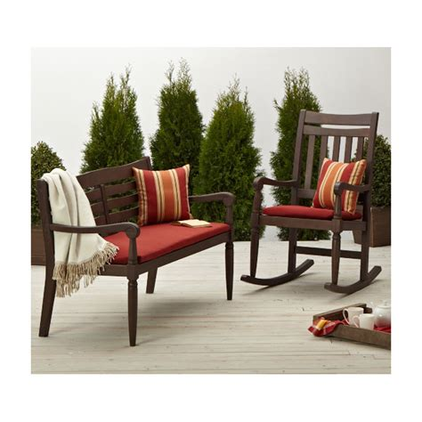 strathwood patio furniture strathwood redonda hardwood 2 seater bench brown patio furniture