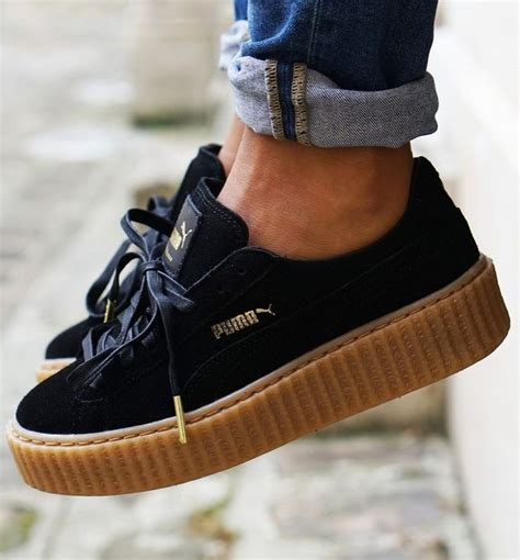 shoes by rihanna black rihanna for creeper sneakers with a platform
