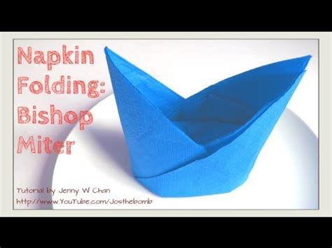 How To Fold A S Hat Out Of Paper - thanksgiving table setting how to fold bishop miter hat