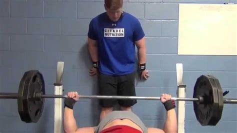bench press accessory work 305x5 bench press with push accessory work youtube