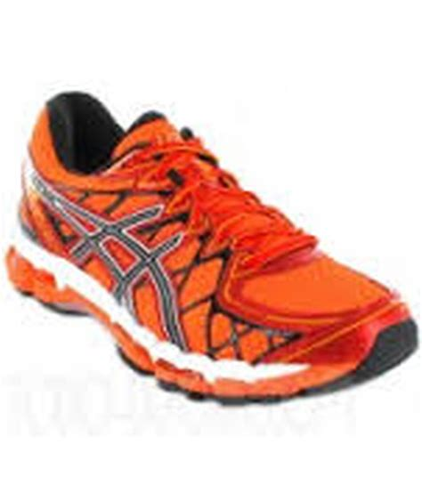 asics orange synthetic leather lace sport shoes price in