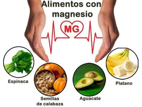 alimentos  magnesio su importancia fuentes  consejos
