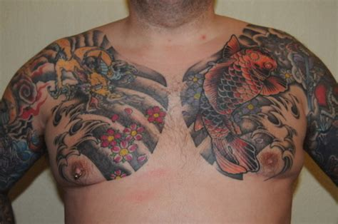 tattoo japanese on chest chest tattoos and designs page 280