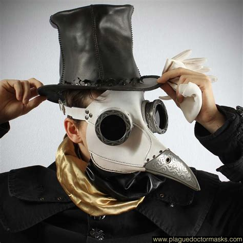 How To Make A Plague Doctor Mask With Paper Mache - white steunk plague doctor mask plague doctor masks