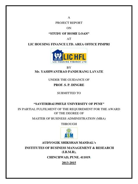 Lic Housing Finance Letter rate of interest for home loan in lic housing finance