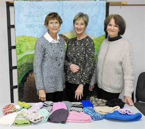 charity knitting groups elgin s donates knitted hats elgin