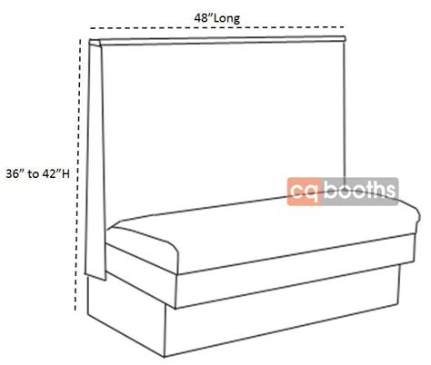 single booth  dimensions wl restaurant booth