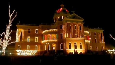 courthouse christmas lights in marshall tx youtube