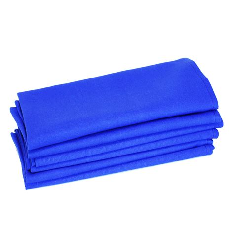 Wholesale Home Decor Online 100 Cotton Napkins Royal Blue Set Of 6 Balducci
