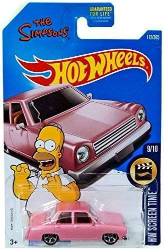 Hotwheels Simsons wheels 2017 hw screen time the simpsons family car 112 365 pink http order sale vtvj via