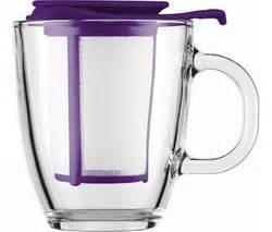 Kitchen And Company Tea Infuser Buy Bodum Yo Yo Mug Tea Strainer Set Purple Free