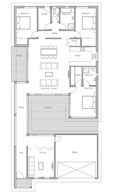 Courtyard Garage House Plans Modern House To Narrow Lot Closed Courtyard Garage