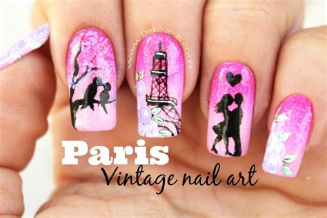 manicura decoracion de u as decoraci 243 n de u 241 as vintage paris deko u 209 as moda en tus