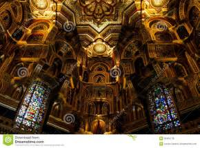 Gothic Chandelier Interior Of Cardiff Castle Wales United Kingdom Royalty