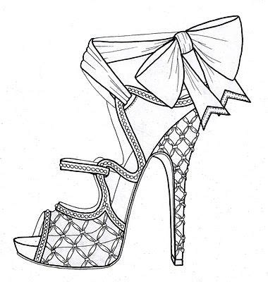 bow high heel sandals shoe design sketches shoes drawing shoe sketches
