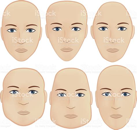 head shape with haircut head shapes stock vector art 148246775 istock