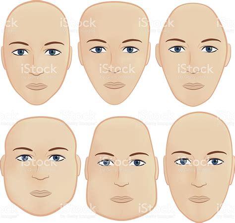 tips for oval shaped head head shapes stock vector art 148246775 istock