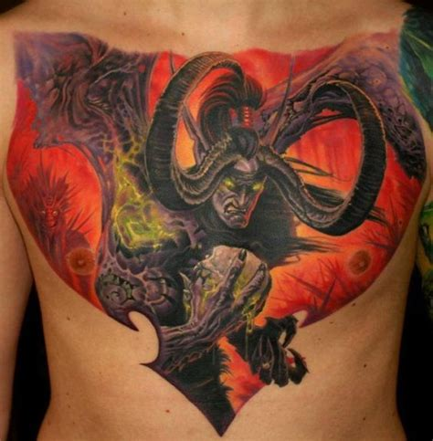 demon hunter tattoo designs world of warcraft wow illidan