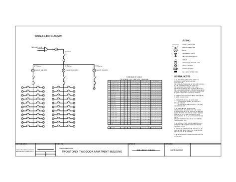 Apartment Single Line Diagram Sheet 1