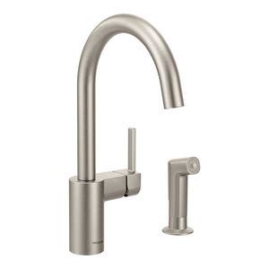 moen align high arc kitchen sink faucet with single lever