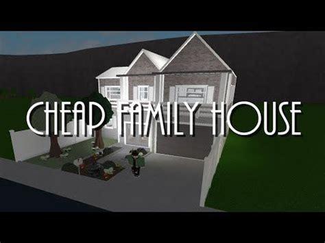 bloxburg cheap family house  youtube family house