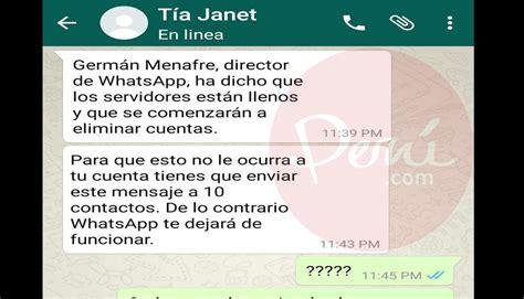cadenas para whats app whatsapp su t 237 a le enviaba cadenas y 233 l la trolea de