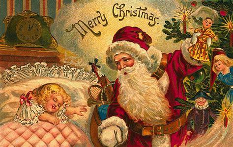 free printable postcards from santa 5 free christmas postcards with vintage santa images