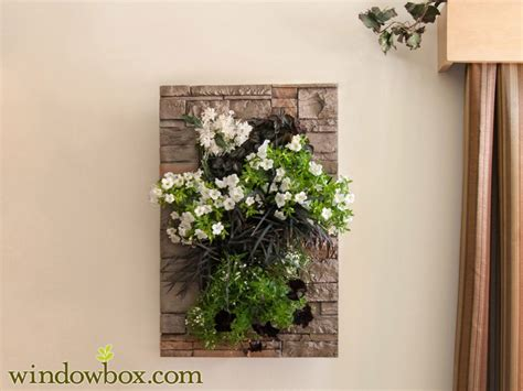 Indoor Living Wall Kit With Modern Frame Stacked Stone Indoor Wall Garden Kits