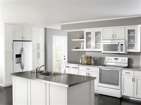 unstained kitchen cabinets pictures of white kitchens with stainless steel appliances
