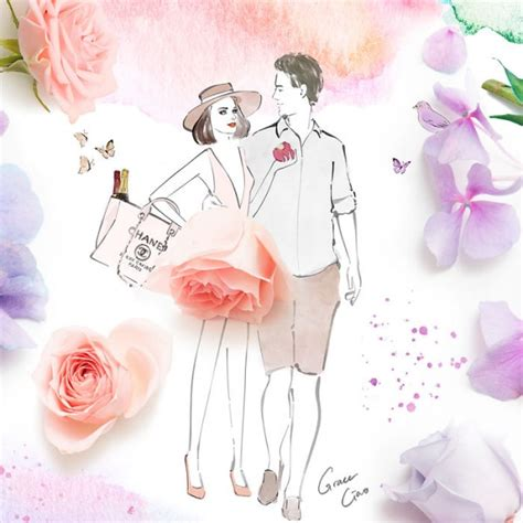 floral illustrations  grace ciao ego alteregocom