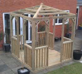 Wooden Gazebo Kits by 3m Wooden Gazebo Kit Wood Pergola Jacuzzi Spa Tub