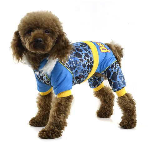 pattern for dog coats for winter fashion bronzing speckle pattern winter pet clothes blue