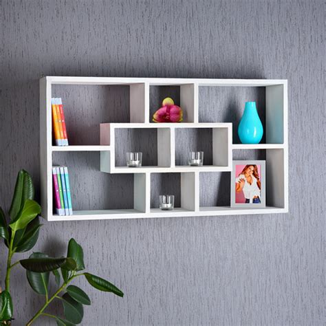 wall shelf hanging rack bookcase bookshelf lounge white ebay
