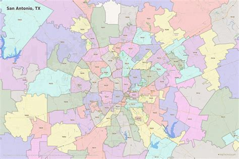 san antonio texas zip codes map san antonio zip code map printable printable maps