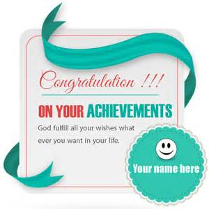 write name on congratulations greeting card pix