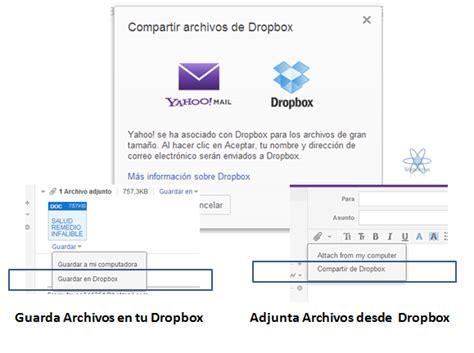 dropbox yahoo aprovecha tu dropbox con tu cuenta yahoo teknolosys