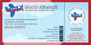 Airline Ticket Template Invitation by Fabulous Features By Anders Ruff Custom Designs Featured
