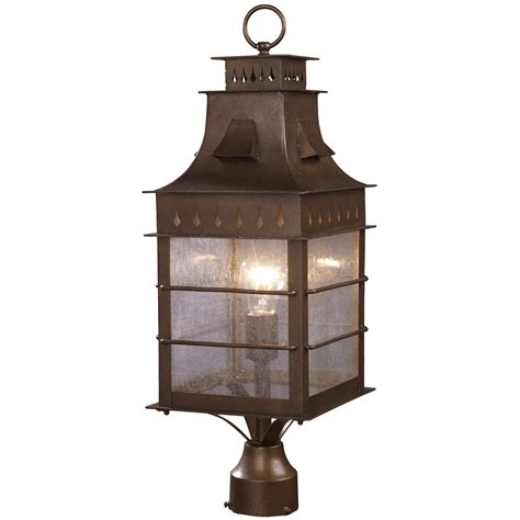 Height Of Outdoor L Post by Elk Lighting Colony Height 1 Light Outdoor Post Mount